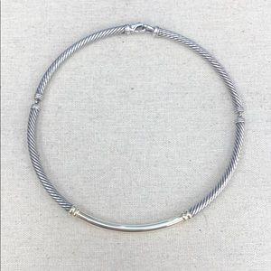 David Yurman Metro Cable Collar Necklace